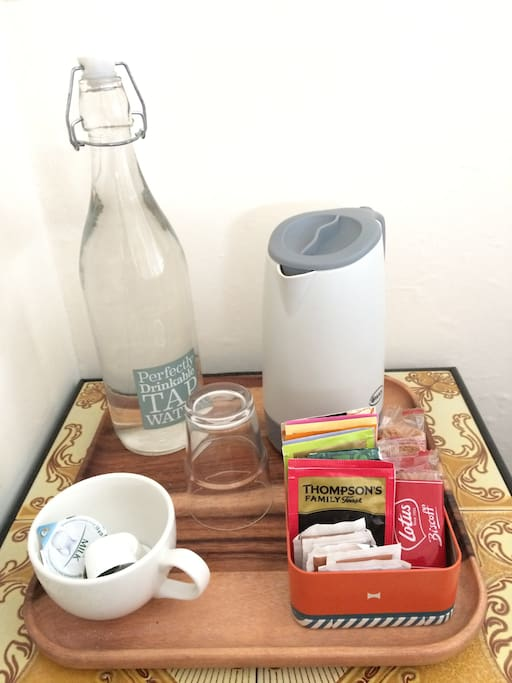 In-room water, tea & coffee