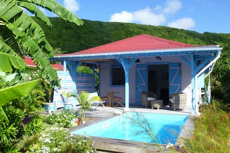 Kaz cannelle, villa créole avec piscine privative - Capesterre-de-Marie-Galante - Casa de camp