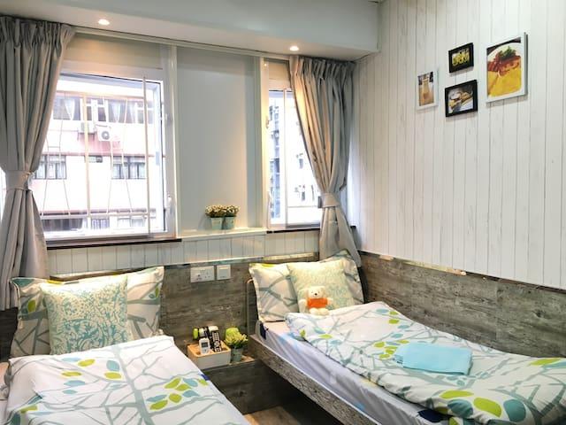 #4 Nice Twin/Double Room in Tsim Sha Tsui