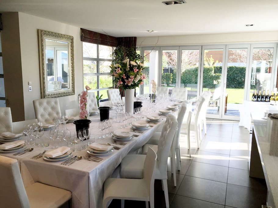 House set for a corporate private wine tasting event