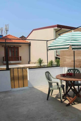 Private terrace to sun bathe or relax under the stars at night:-)