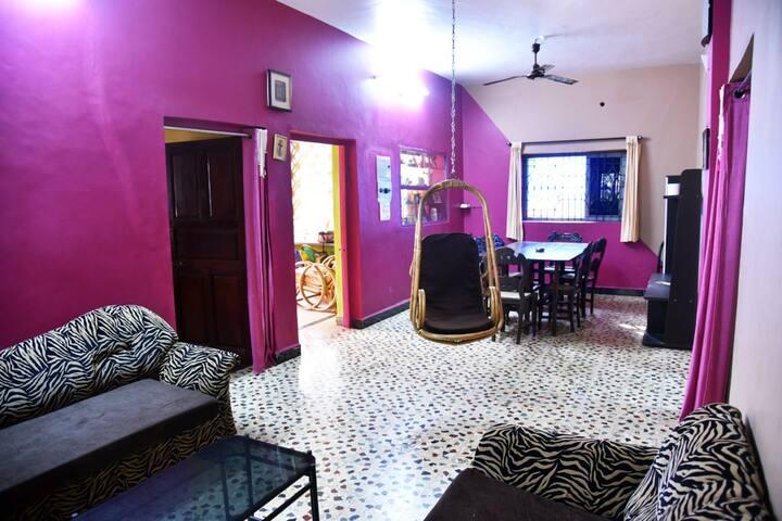 Rustic 2 BHK Apartment Near Anjuna Beach