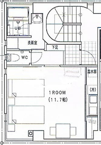 平面図です Drawing of the room