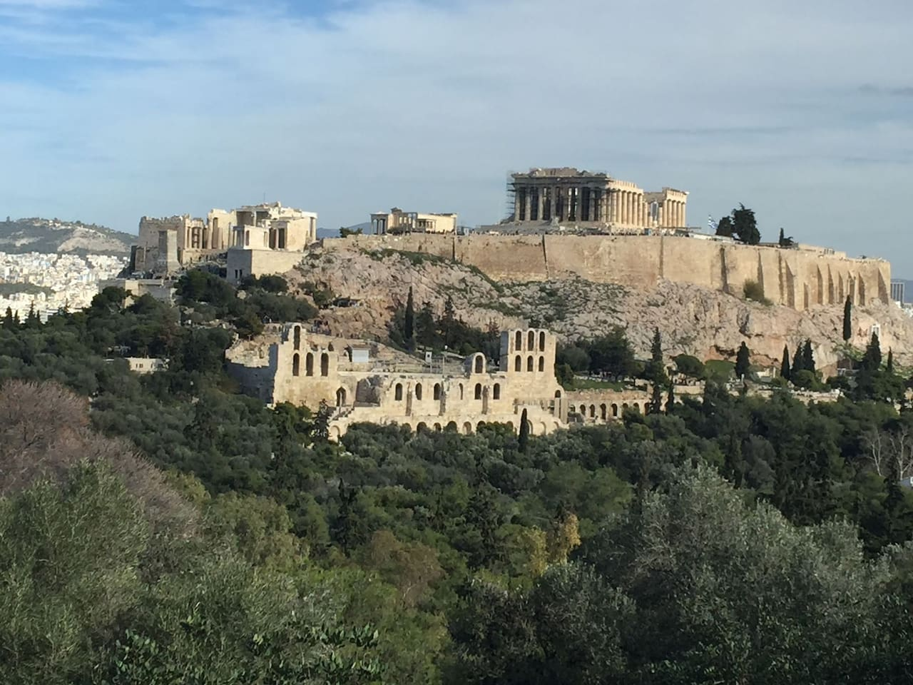 10 minute walk from our apartment and you stand at the foot of the Ancient and majestic Acropolis