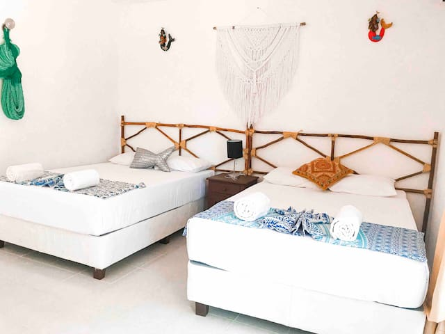 HOLBOX 4 PEOPLE ROOM WITH BALCONY #8
