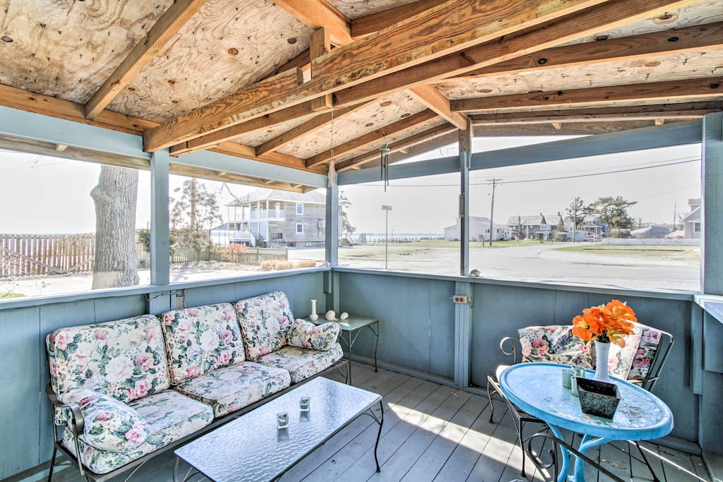 Relax and enjoy a breeze on the porch.