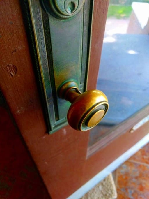 Welcome doorknob