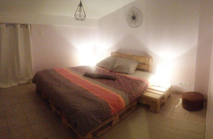 Belle chambre avec espace déjeuner et SDB privée - Saint-Donat-sur-l'Herbasse - Appartement
