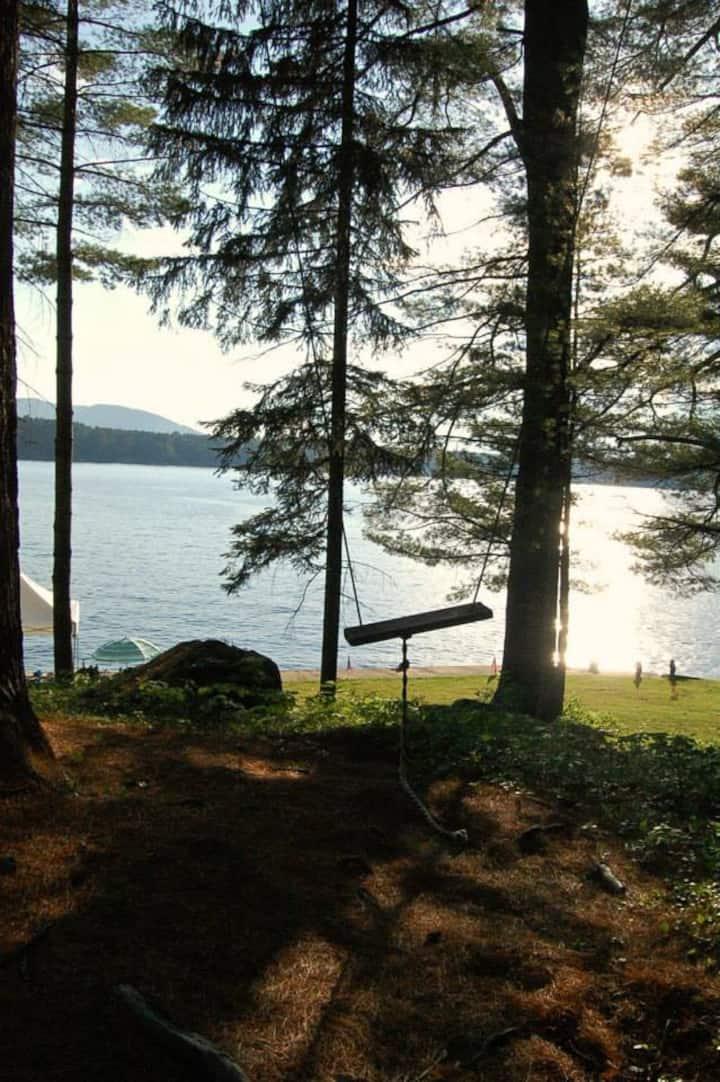 waterfront family cottage w/ swim area + boat dock