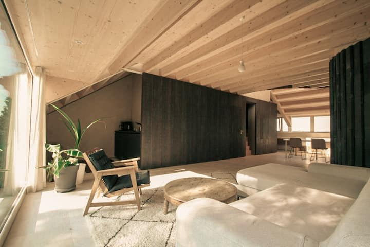 Light flooded Eco Loft with big terrace & top view