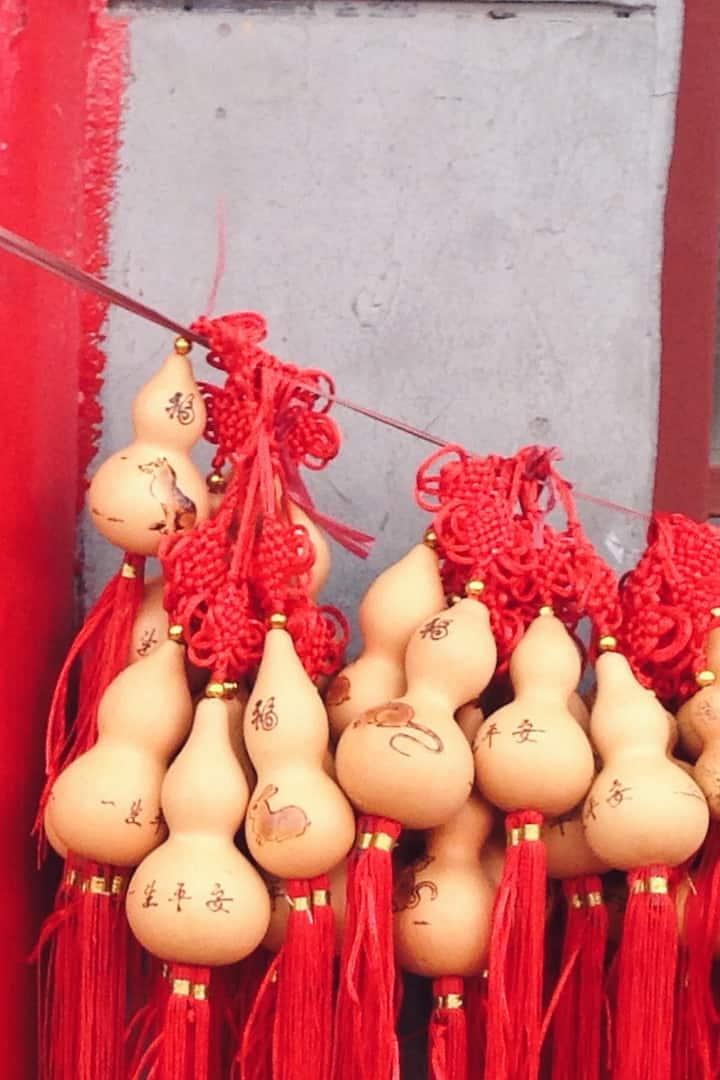 Calabash hung in an handcraft market