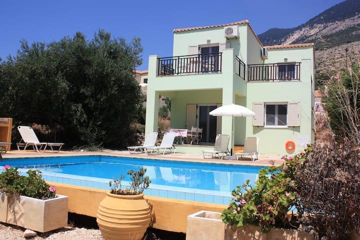 Villa  Asterias Lourdata  Kefalonia  private  pool