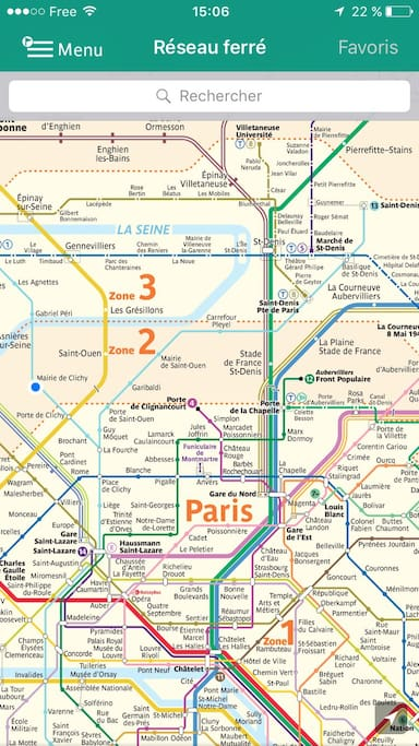 The metro map with my station pointed on the blue dot.
