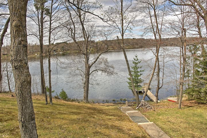 Balsam Lakefront Home w/ Private Dock & Kayaks!
