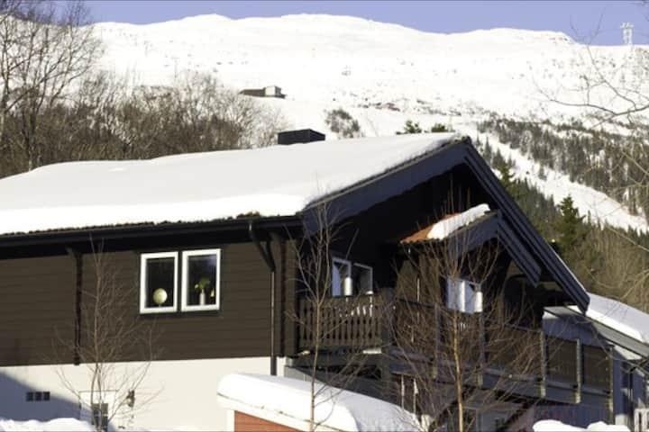 Modernt fjällhus med vacker utsikt