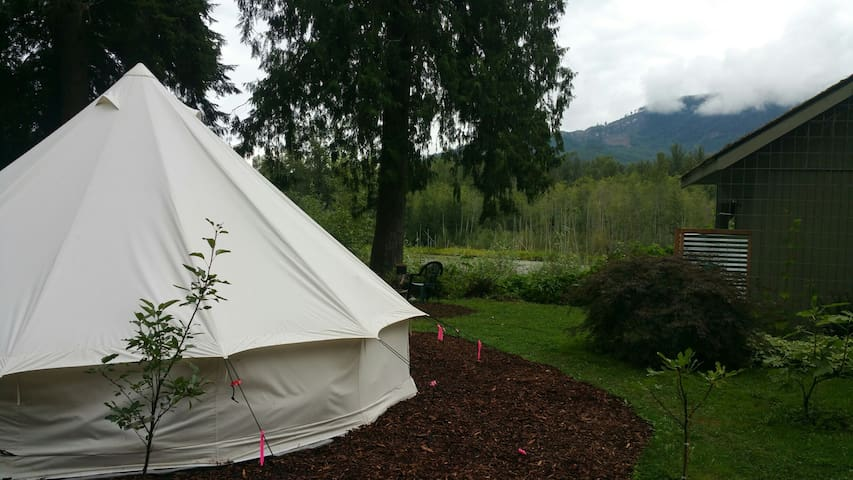 Glamping at the Oasis on the river
