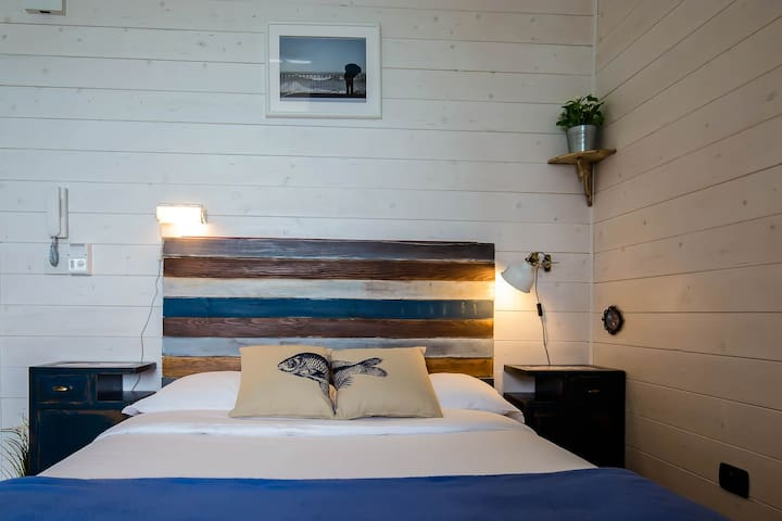 *Mare Studio* the bed of the romantic loft studio apartment with seaview by #starhost