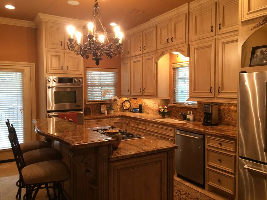 Great kitchen with high-end appliances with great views.