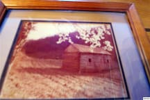 picture of the original log cabin