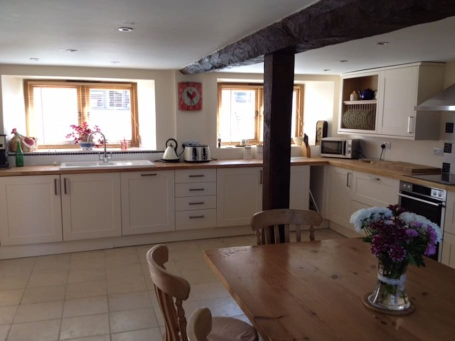 Generously sized well equipped kitchen/dining area.