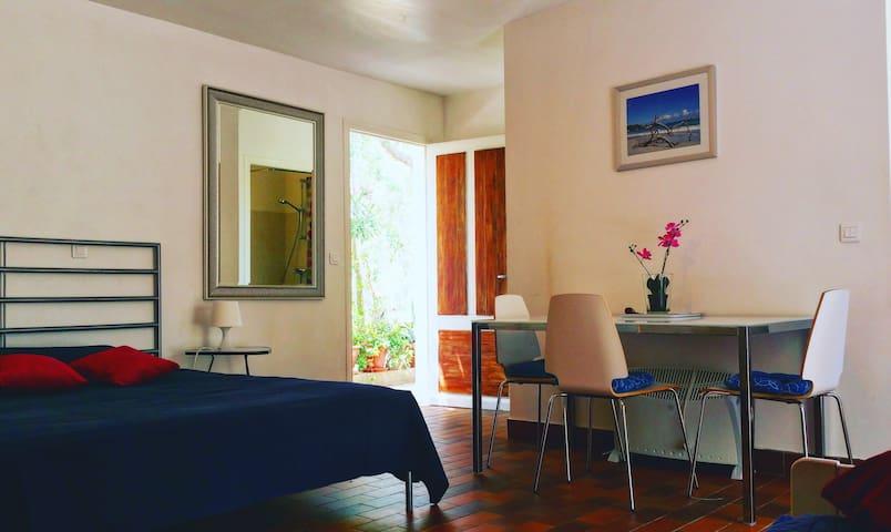 Studio terrasse-jardin bio-clim 200m plage Calvi