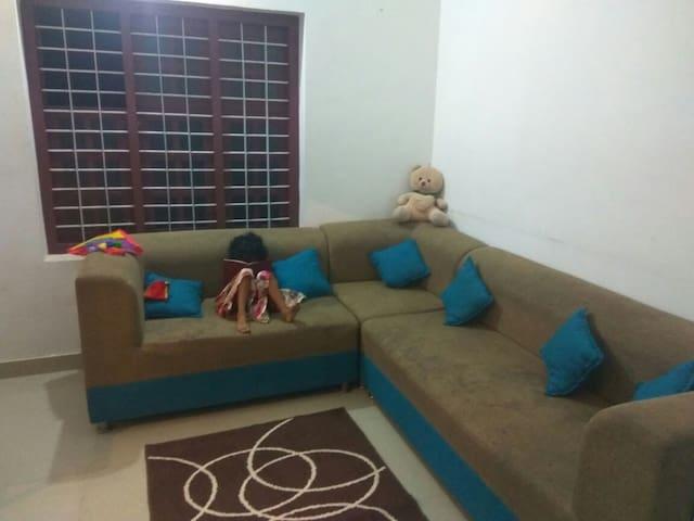 Near Kottakal AVS-First floor of villa-2 bed rooms