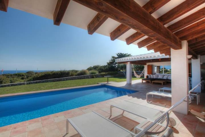 Villa with pool and sea views, Binidalí, Menorca