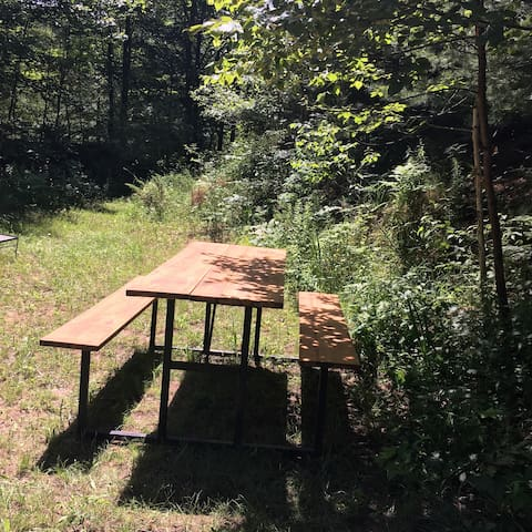 Custom picnic table made by Mike!