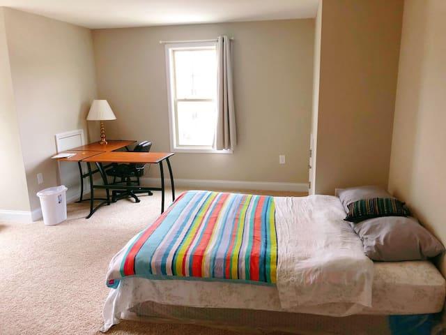 Comfortable Queen Bedroom in a new house