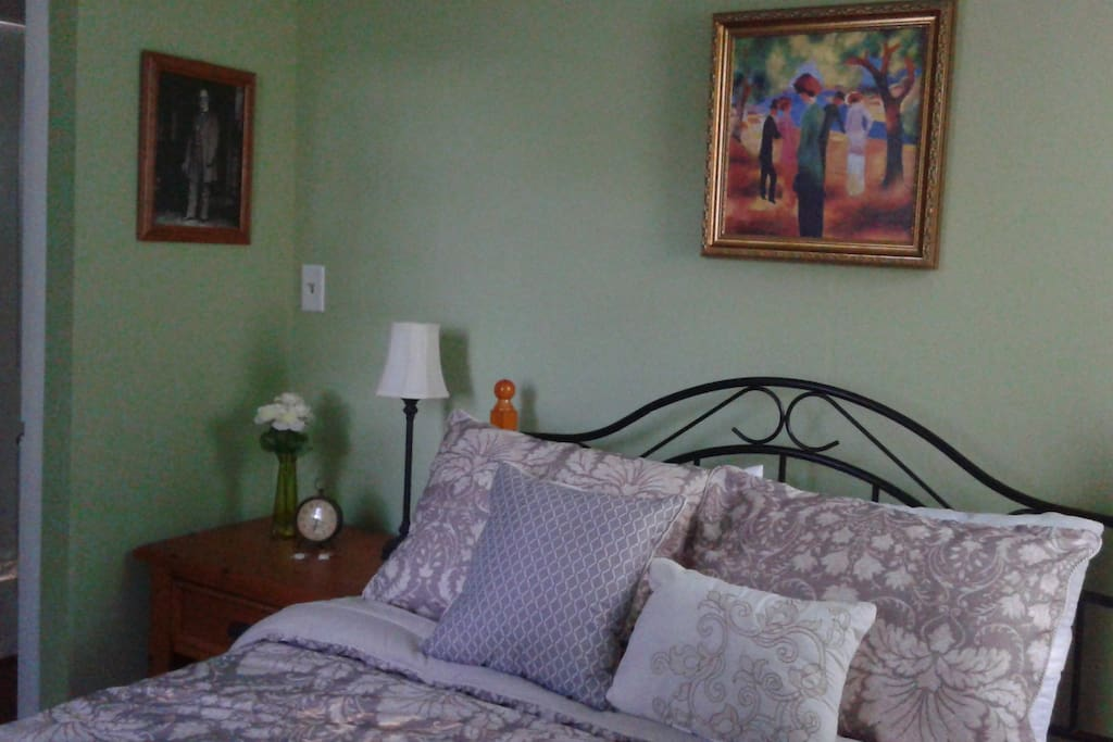 """""""The General Lee Room"""" comfortable full size bed smallest of three rooms and large in charm!"""