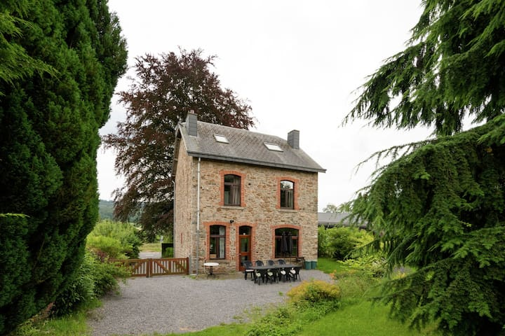 A beautifully renovated mansion in the Ardennes.