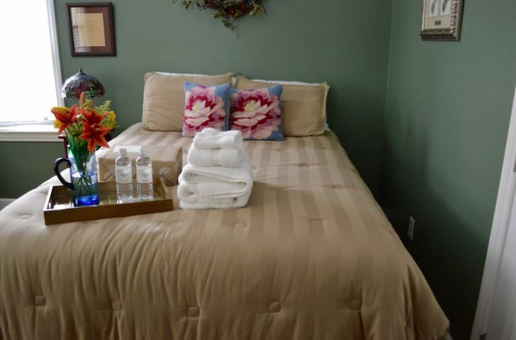 Private bed/bath near downtown - Greenville - Hus