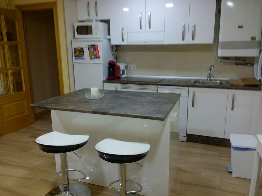 cocina / cuarto de estar