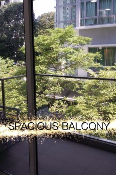 Spacious balcony