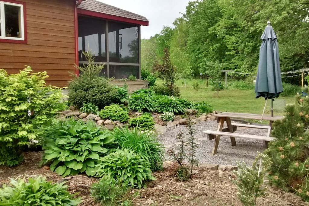 Front gardens/picnic table