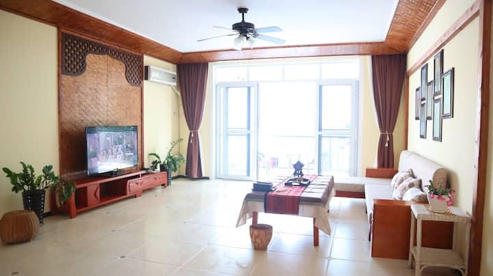 江景房Mekong homestay江景房超大客厅阳台/泼水广场/江边夜市/音乐喷泉/告庄
