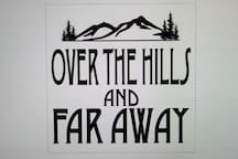 Look for this sign on the cabin porch.