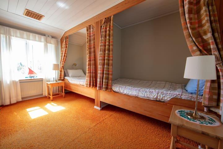 Bedroom with in suite bathroom.