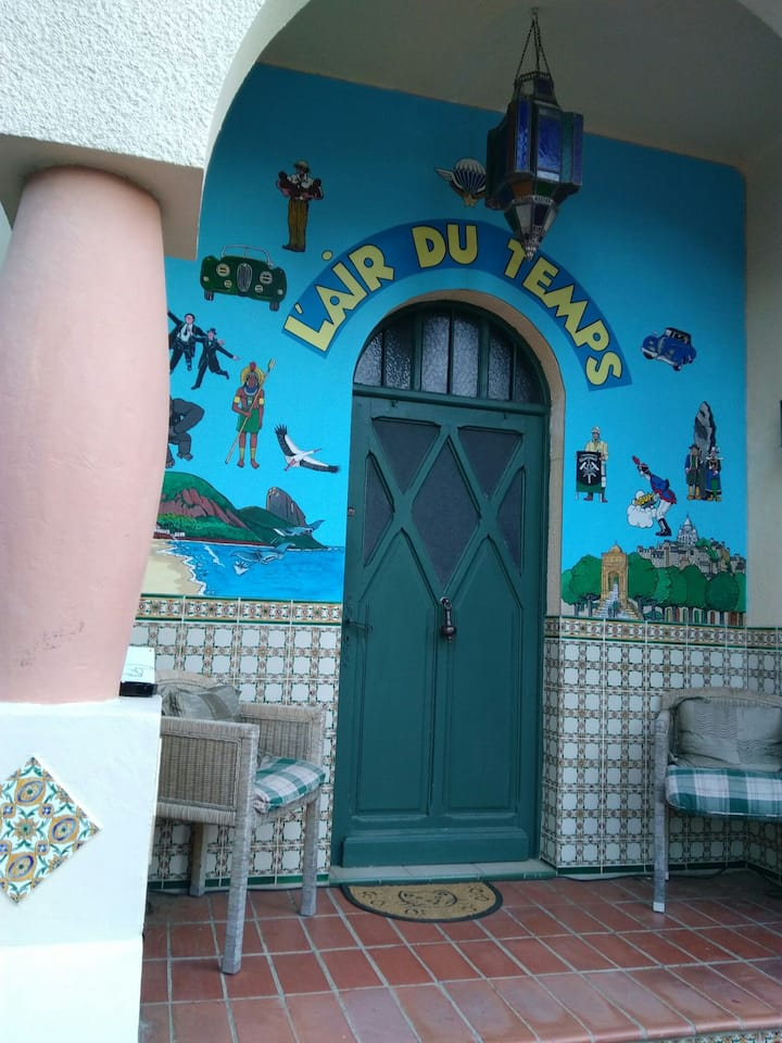 Nr 7 Chambre lit double rez jardin