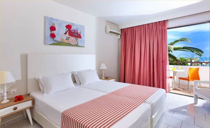 Double Room with SEAVIEW, FREE BREAKFAST - Stalis