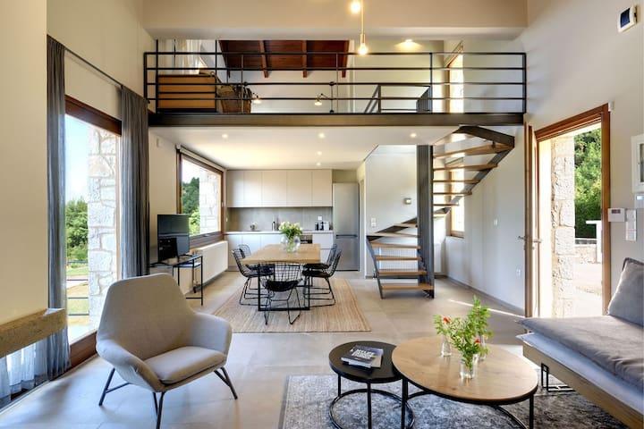 Interior View of the Kitchen & Loft