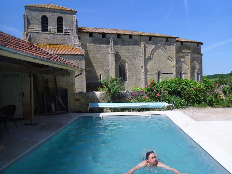 Pool in private cloister.