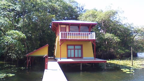 Tropical Waterfront Cabin aka the Tower House