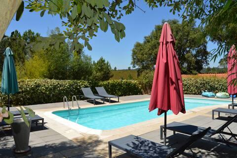 Casas/bungalows avec piscine, calme & nature