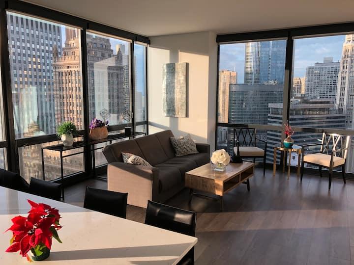 Luxury Apartment 2BR 2BA Highrise/Millenimun Park