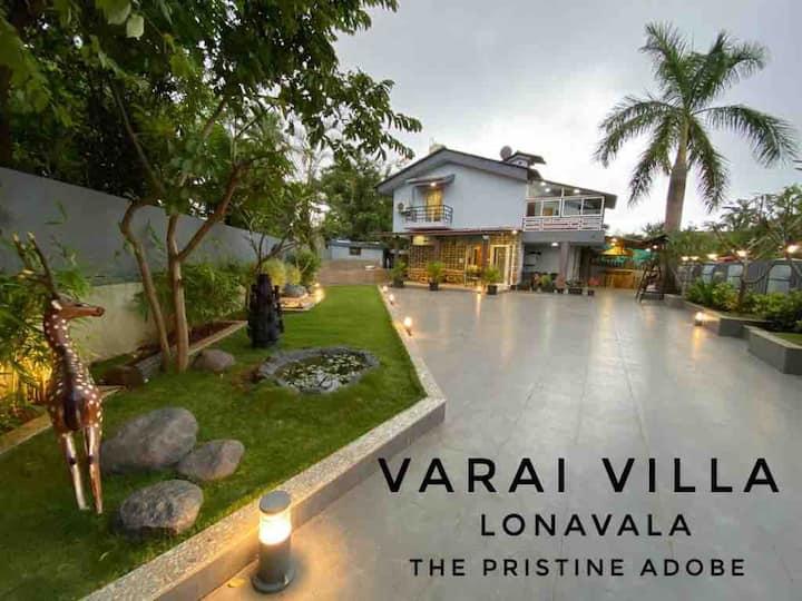 Varai Villa 4bhk+poolpartyareakidplayarea ONLY VEG