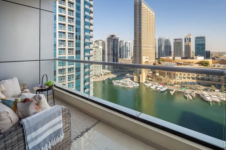 Stylish & Superior 1BR With Exceptional Marina Views!