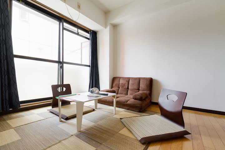 Namba Sta 3min Japanese wa modern - Ōsaka-shi - Apartemen