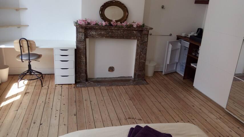 Belle chambre lumineuse dans maison de maitre