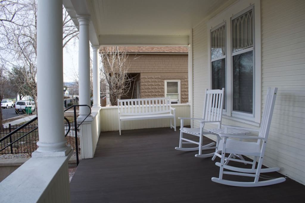 Covered front porch for relaxing